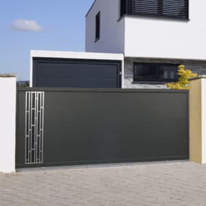 Portail coulissant alu gamme Italia Design modèle Bari