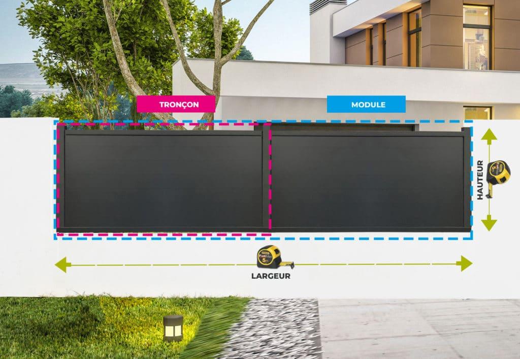 prise de mesure clôture