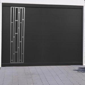 Porte de garage alu sectionnelle isolée Bari