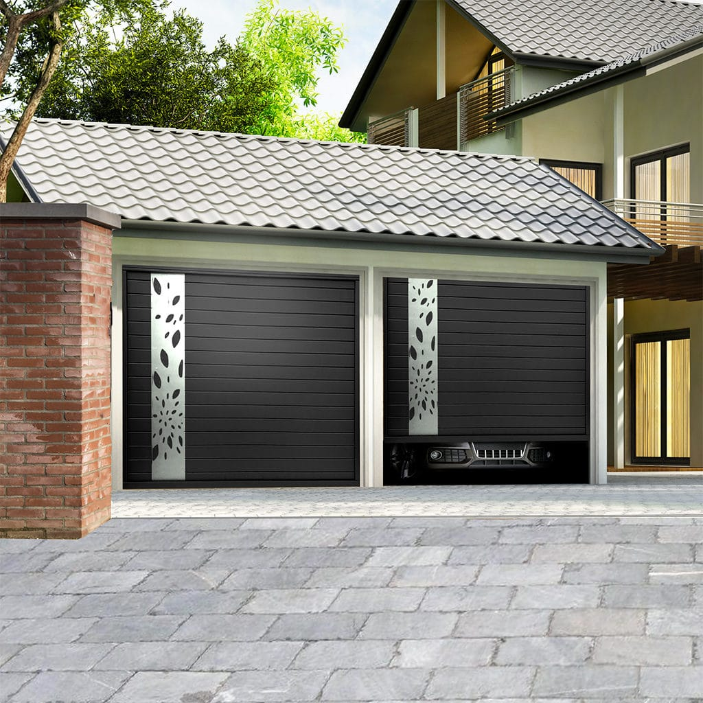 Porte de garage aluminium sectionnelle isolée modèle Lisbonne
