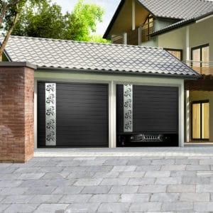 Porte de garage aluminium sectionnelle isolée modèle Rhone