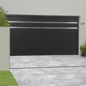 Porte de garage alu sectionnelle isolée Menuires