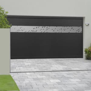 Porte de garage alu sectionnelle isolée Meribel