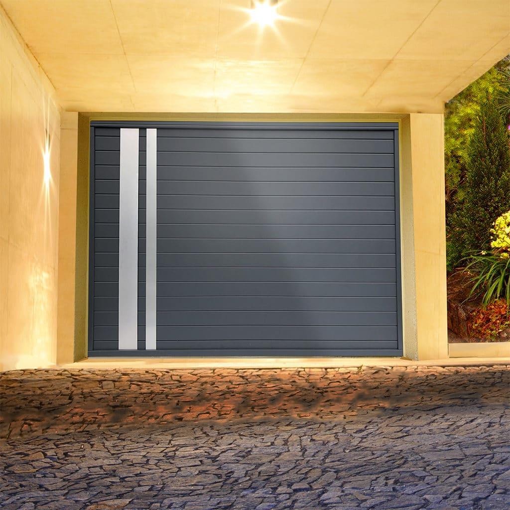 Porte de garage alu sectionnelle isolée Opale