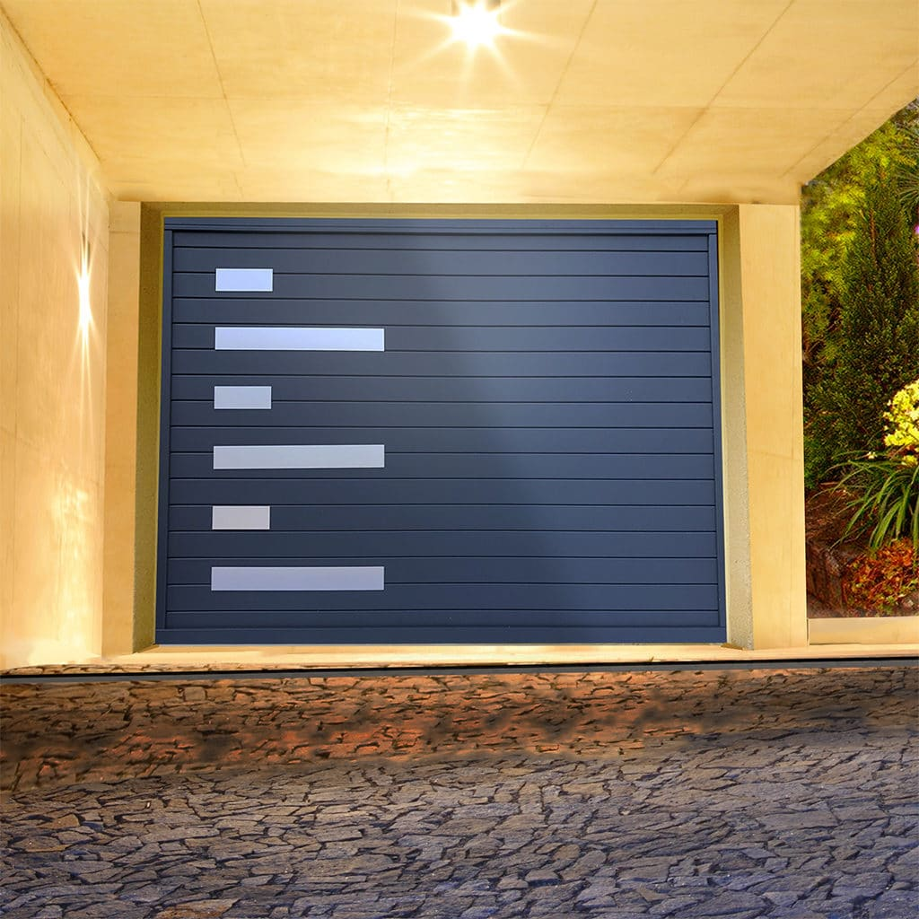 Porte de garage alu sectionnelle isolée Topaze