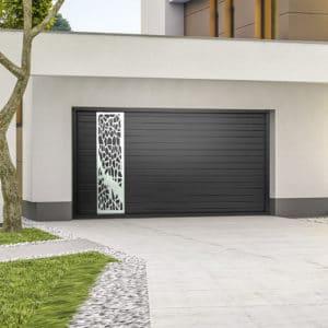Porte de garage alu sectionnelle isolée Araignée