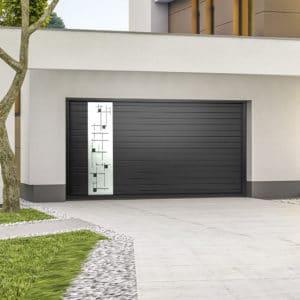 Porte de garage alu sectionnelle isolée Equation