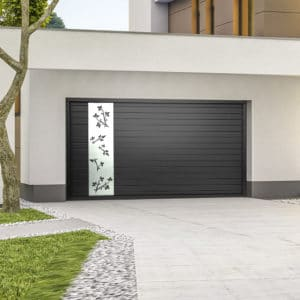 Porte de garage alu sectionnelle isolée Floralie