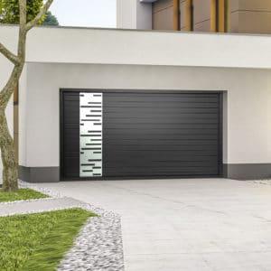 Porte de garage alu sectionnelle isolée Horizon