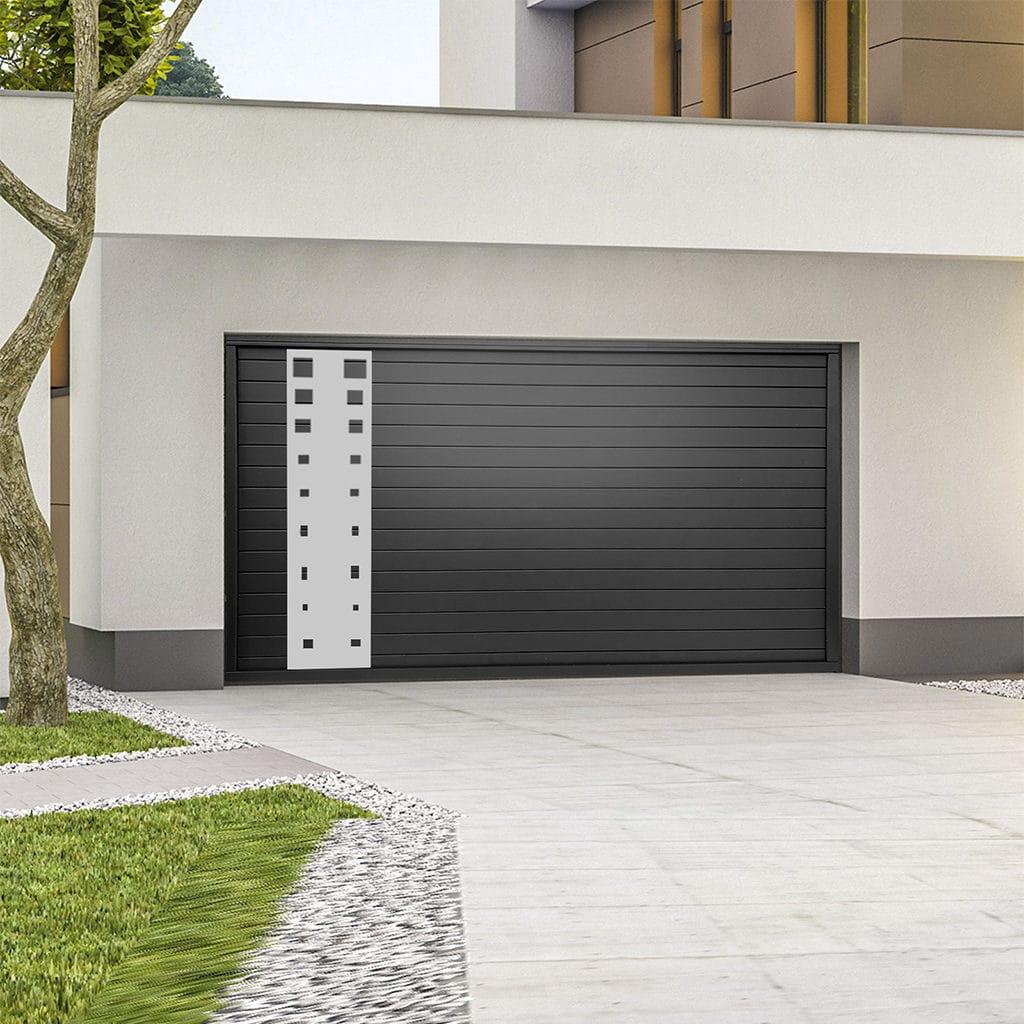 Porte de garage alu sectionnelle isolée Tirso