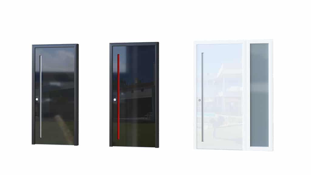 Porte aluminium modèle Glass 1