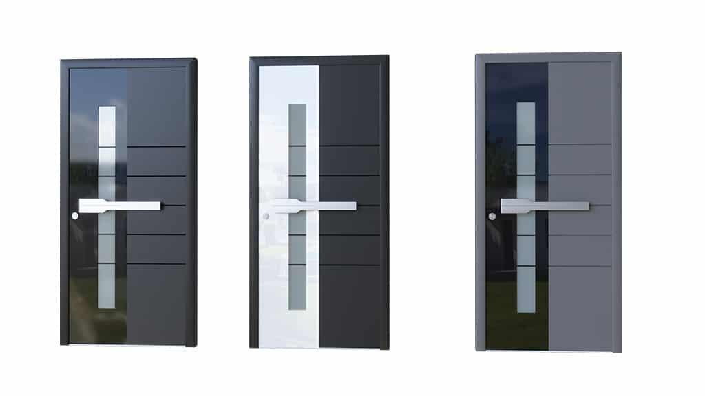 Porte aluminium modèle Glass 3